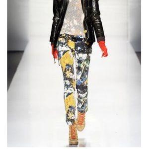 Tory Burch Super Skinny Paint Splatter Jeans
